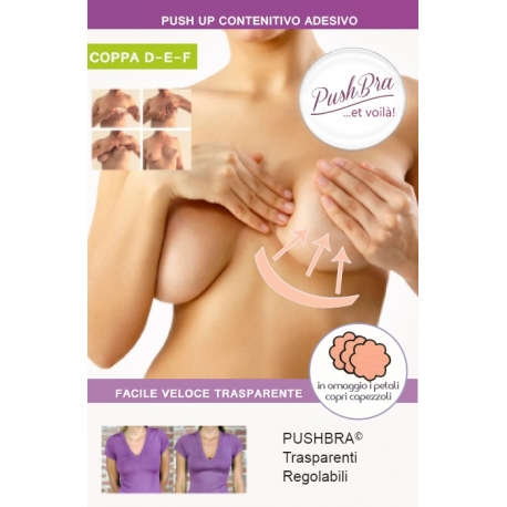 PushBra PLUS 8 + 8 pezzi - Coppa D - E - F